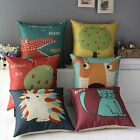Cartoon Chick Dog Cat Animal Party Throw Pillow Case Back Cushion Cover Decor 17