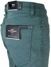 NEWT$ 7 SEVEN FOR ALL MANKIND SLIMMY JEANS GREEN DENIM STRETCH STRAIGHT PANTS 31