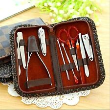 10 in 1 Pedicure Manicure Set Nail Clippers Cuticle Grooming Cleaner Kit Case