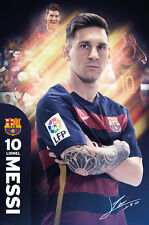 LIONEL MESSI 2016 - BARCELONA POSTER - 24 x 36 FOOTBALL SOCCER FC 34096