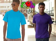 STOCK 25 piezas camiseta FRUIT OF THE LOOM gr 165 DISPONIBLE 27 COLORES#