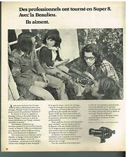 Publicité Advertising 1974 La camera Beaulieu Super 8