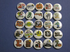Large lot of  Halloween themed party favor pins buttons badges  wholesale bulk