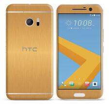 Etiqueta engomada de la piel con textura para HTC 10 Carbono Cubierta De Cuero Madera Mate Brillo Envoltura