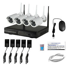 Wireless 4CH NVR 720P IP CCTV Surveillance Security System WIFI Network Camera