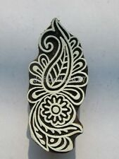 Indian Hand Carved Textile Stamp Woodblock Floral Wooden Printing Block