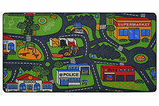 NEW LARGE CHILDRENS CAR / ROAD PLAY RUG / MAT  100 X 200cm
