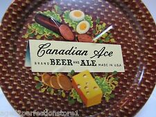 Old Canadian Ace Beer and Ale 'Cheese & Sausage' Adv Tin Tip Tray made in USA