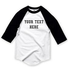 NW Personalized Custom 3/4 Sleeve BaseBall T-Shirts Raglan Create your own text