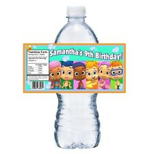 20 BUBBLE GUPPIES PERSONALIZED BIRTHDAY PARTY FAVORS WATER BOTTLE LABELS WRAPS