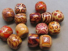 50 Assorted 16mm Wood Beads,10mm Hole,(G69G36)