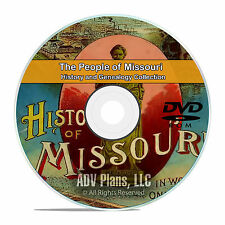 Missouri MO People & Civil War History and Genealogy 121 Rare Books DVD CD B23