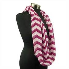 Chevron Sheer Infinity Scarf Soft Color Scarves Wine Wrap Lightweight New US