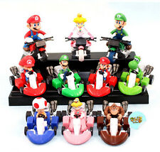 10PCS Super Mario Kart Mario Luigi Pull Back Car & Bike Figure Toy Set Gift