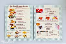 Disney Pixar California Adventure Cars Land FLO'S V8 Cafe Menu