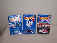 HOT WHEELS -  LOT OF 3 - RR - TAIL DRAGGER - MUSTANG - OLDSMOBILE AURORA - NEW