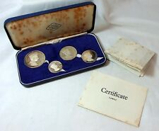 Boxed Set 4 Solid Silver Medallions 1969 Prince Charles Investiture 228 of 2,000