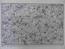 1917 WAR MAP AREA OF FIGHTING FOR BULLECOURT & ARRAS-CAMBRAI ROAD WWI WW1