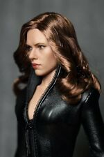 In Stock 1/6 Custom Black Widow 5.0 Head Sculpt For Hot Toys Phicen Body 0017