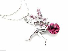 Pink Crystal Fairy Anklet Women Ankle Bracelet Silver Plated Multi-Colored
