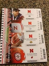 2015 NEBRASKA CORNHUSKERS FOOTBALL SEASON TICKET STUB STRIP SHEET SET