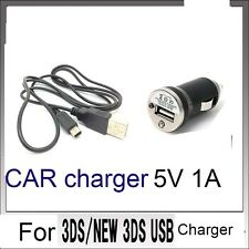 New CAR POWER AC CHARGER CABLE  For Nintendo DSi NDSi DSiXL 3DS 3DSXL/LL 3DS
