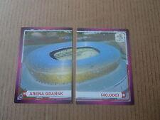 Vignette panini - Euro 2012 - Pologne / Ukraine - N°008 & 9 Stade Arena Gdansk