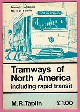 Tram Booklet - Tramways of North America - Light Railway Transport League 1977