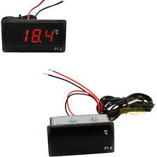 220V Digital Thermometer Car Indoor Outdoor Home Red LED Temperature Meter Temp