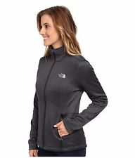 New The North Face Womens Gray Agave Active Fit Full Zip Fleece Lined Jacket M