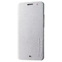 Genuine Leather Flip Case Cover ACC-57201-002 for BlackBerry Z30 - White
