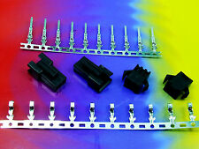 Stk.2x BUCHSE /STECKER 3 polig/way Male+Female Connector 10x CRIMPKONTAKTE #A544