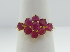 """1.98CT Natural Red Rubies Solid """"90%"""" 21K Yellow Gold Ring FREE SIZING"""