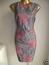 MONSOON MINK CORAL SEQUIN EMBROIDERED FIREWORKS SHIFT PARTY DRESS 16 FEMININE!