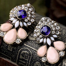 Women's Vintage Waterdrop Rhinestone Ear Studs Earrings Banquet Jewelry Enticing
