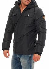 Jack Jones Canyon Black Jacket Parka Mens  Size M Medium New £40