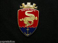Spilla Comsubin Marina Militare Italiana Distintivo da Giacca Rosso-Blu (grande)