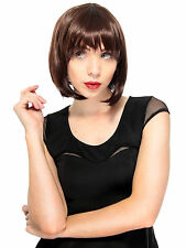 New Fashion Women Short Brown Bob Straight Hair Full Wig Cosplay Party Wigs