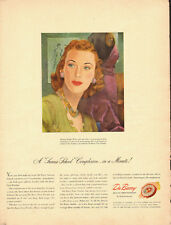 1940's Vintage ad for DuBarry Beauty Preparations~Art/40's Fashion (081013)