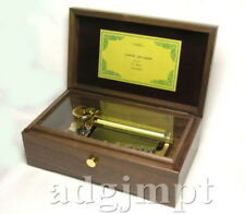 BRAND NEW Music Box ORPHEUS All Walnut box 50 note Canon 3 parts Sankyo Japan