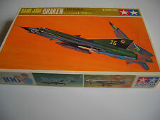 Japanese old plastic model kit SAAB J35F DRAKEN 1/100 ultra old rare item Extrac