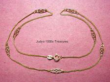 14k SOLID GOLD INFINITY CHAIN 16.25 INCHES LONG  2.56gr. MADE IN ITALY