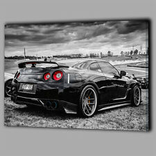 Nissan Skyline GTR Super Sports Car Canvas A2 Large Wall Art Picture Gift O92