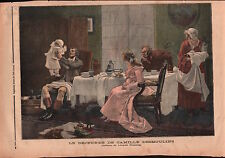 Le Déjeuner de Camille Desmoulins par Léopold Flameng Peintre 1892 ILLUSTRATION