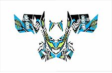 SKI DOO BRP REV XP XM XR Z SUMMIT GRAPHICS DECAL WRAP 163 154 146 137 121 blue