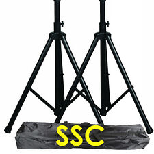 Speaker stands 2x carrying bag adjustable height DJ pro audio