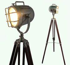 Lámpara de Pie Iluminación Decorativa Hogar Trípode De Diseño Vintage Reflector Spot Luz