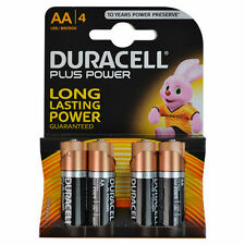 DURACELL PLUS POWRE PILES AA - DOUBLE A - LOT DE 4 1.5V NON RECHARGEABLE