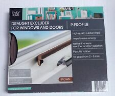 BROWN   E - Profile Draught Excluder for Doors and Windows 10 Meter