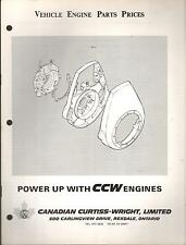 1970-71 CCW SNOWMOBILE & VEHICLE ENGINE PARTS PRICES MANUAL 340, 400, 375, 312